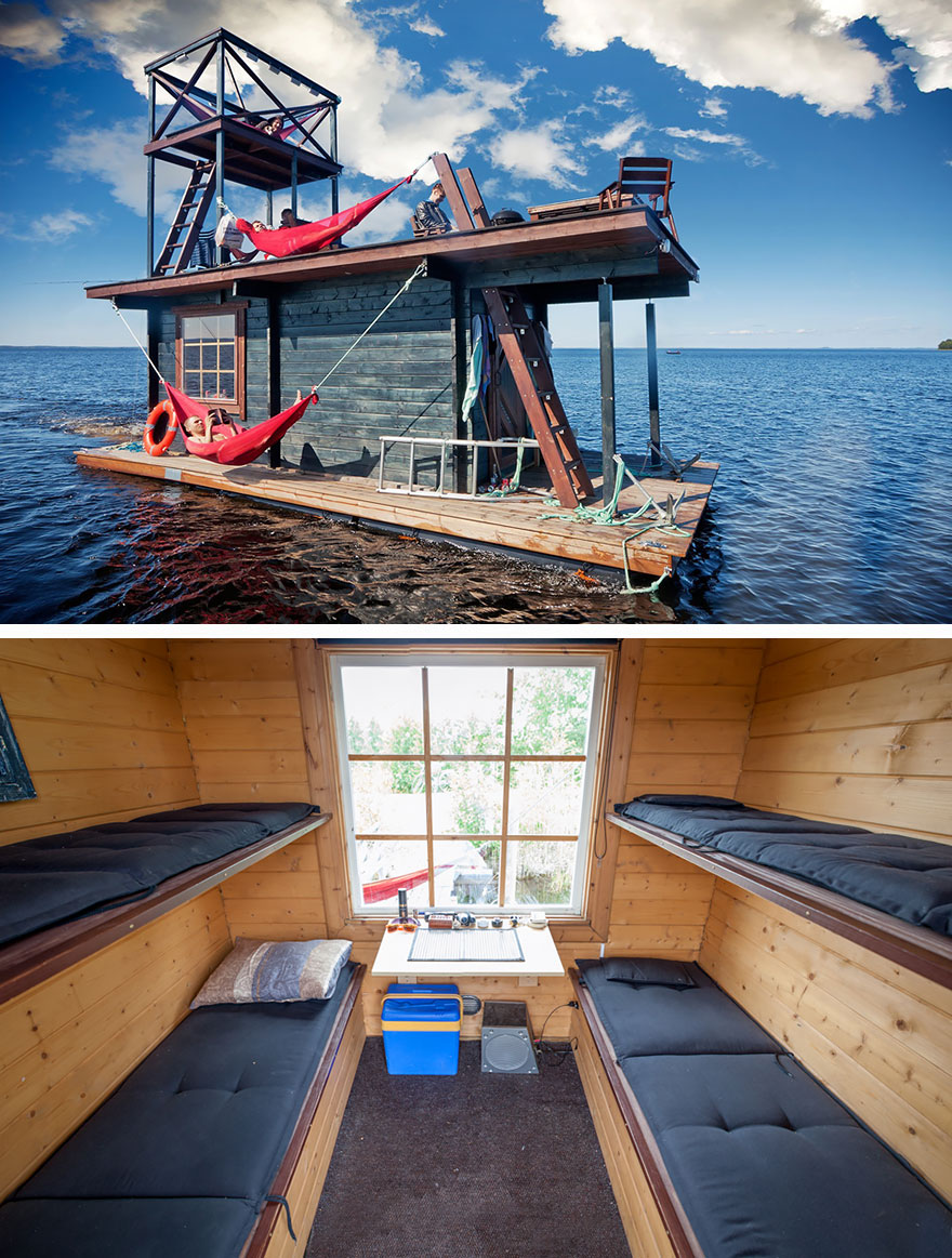Floating Houseboat in Finland