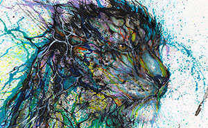 Splattered Ink Animal Portraits By Chinese Artist Hua Tunan