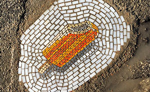 Chicago Doesn't Fix Its Potholes, So This Artist Fixes Them With Ice Cream Mosaics