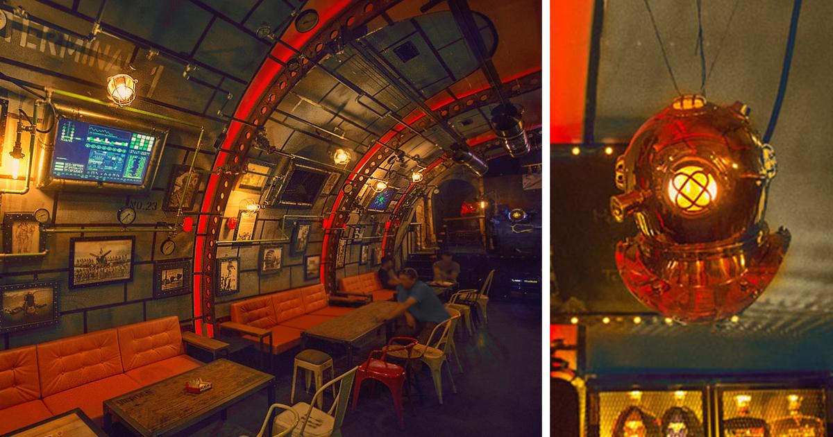 Steampunk Submarine-Themed Pub In Romania