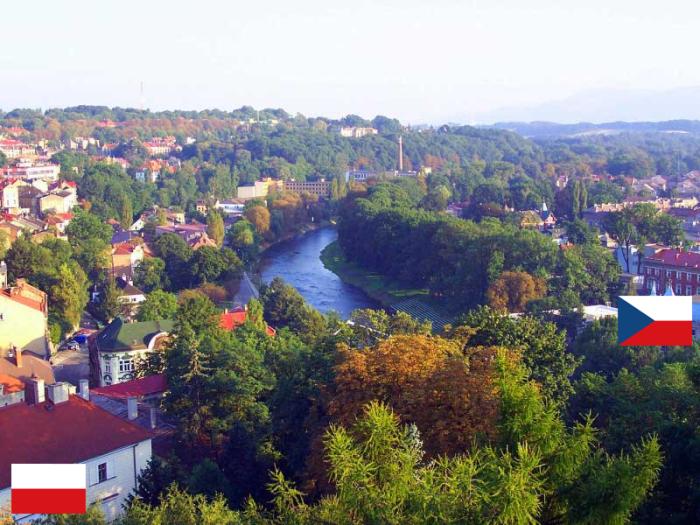 Poland (cieszyn) And Czech (Český Těšín)