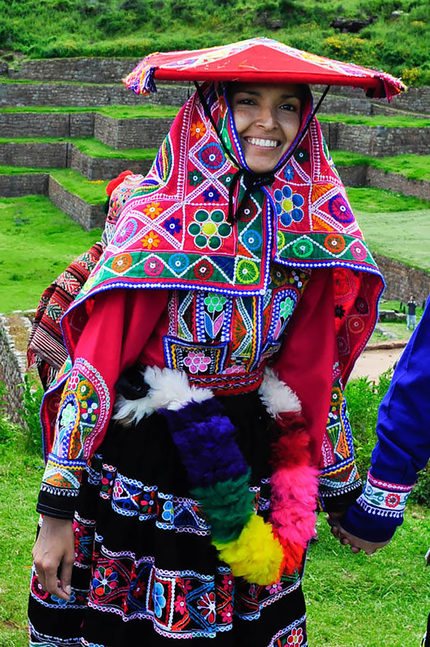 Traditional Peruvian Bride In Sacred Valley Near Cuzco, Peru