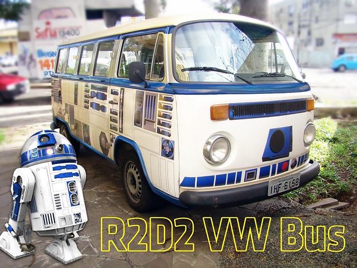 DIY 'Star Wars' Vehicle Wrap Turns Old VW Camper Into R2-D2