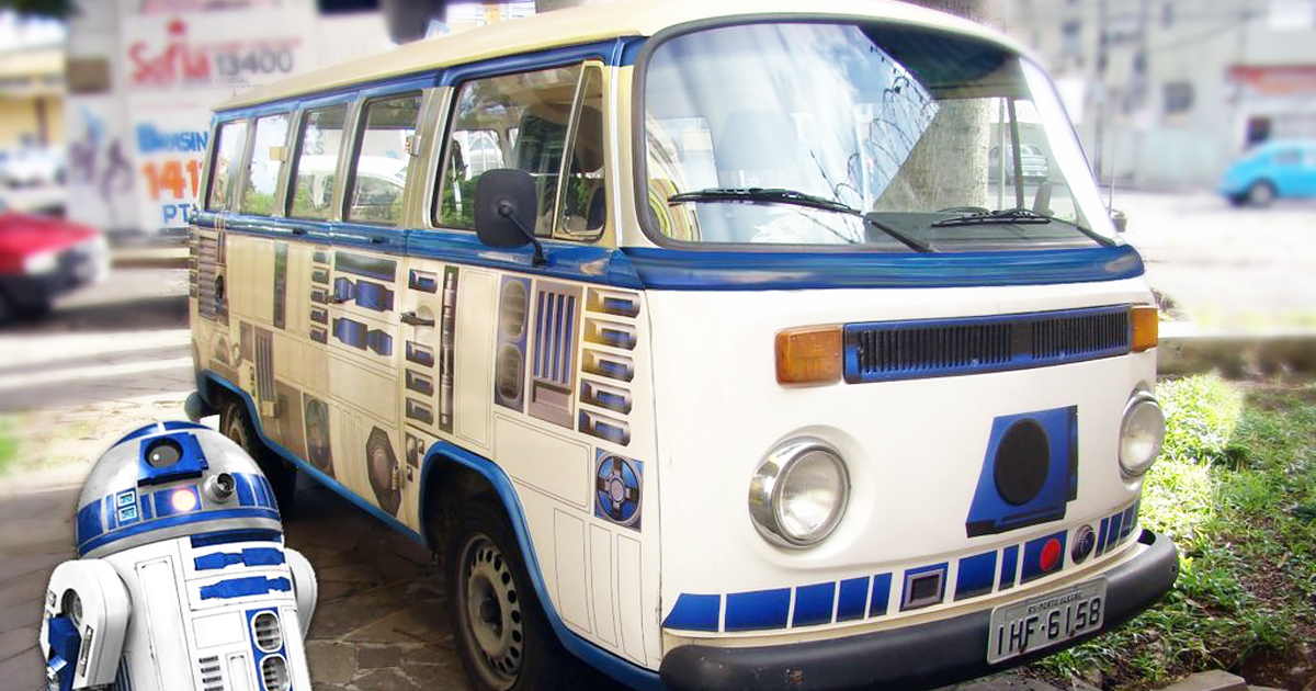 DIY Star Wars Vehicle Wrap Turns Old VW Camper Into R2 D2