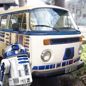DIY 'Star Wars' Vehicle Wrap Turns Old VW Camper Into R2-D2