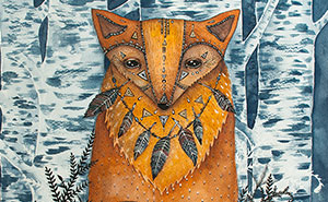 Watercolor And Ink Paintings Of Animals