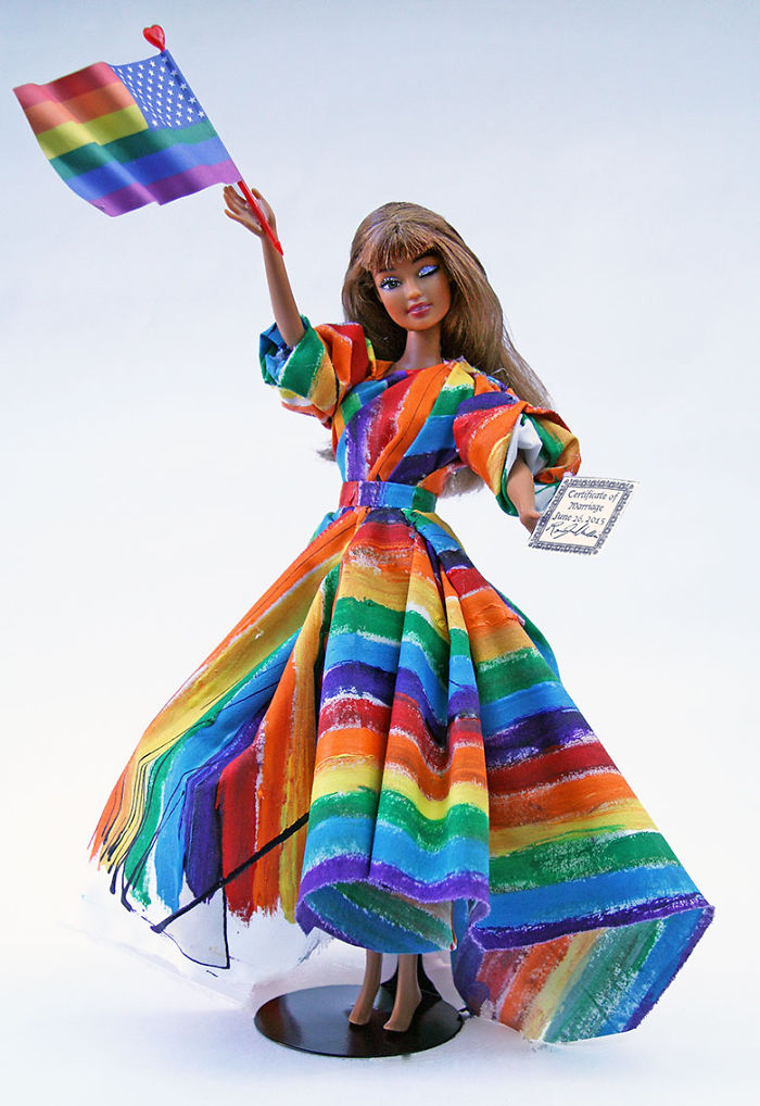 Unused Barbie Doll Gets Makeover To Celebrate Marriage Equality & Gay Pride