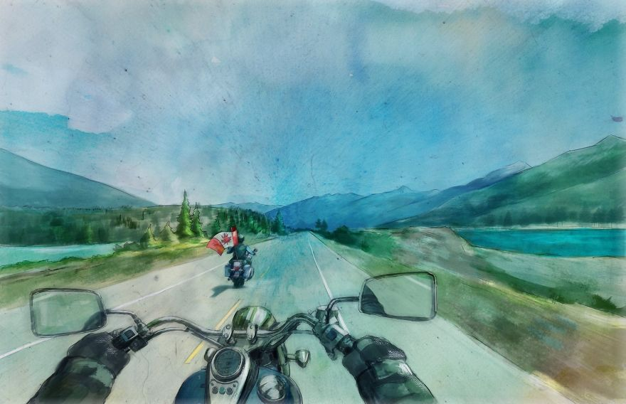 Around The World With Watercolor Illustrations