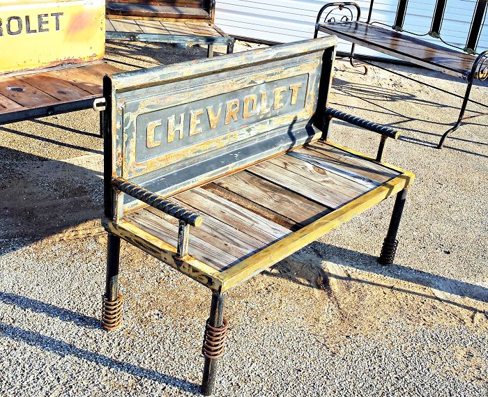 Chevy Truck Tailgate Bench By Recycled Salvage Design
