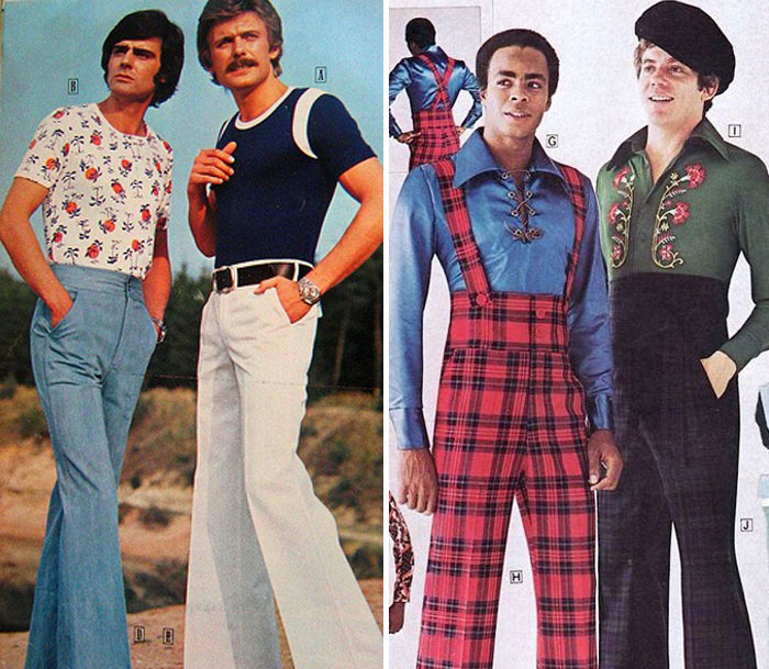 Image result for Men's fashion, 1970s