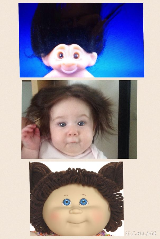 If A Troll And Cabbage Patch Kid Had A Child, It Would Look Like My Baby.