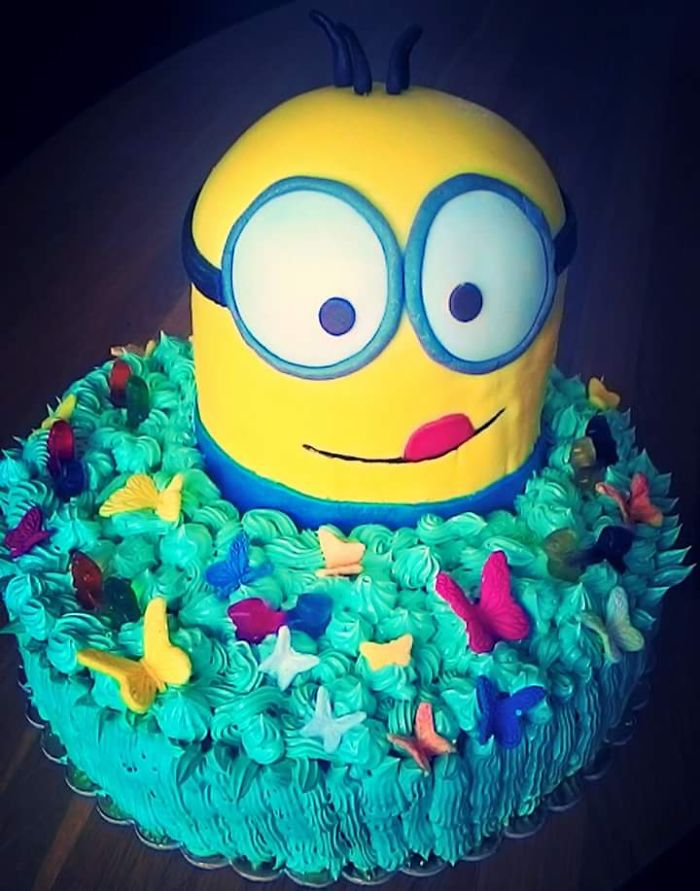 3d Minion Made By My Sister To Kid Birthday