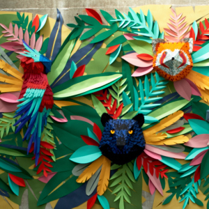 I've Spent 2 Weeks Making This Animal Mural From 1000s Of Small Paper Pieces