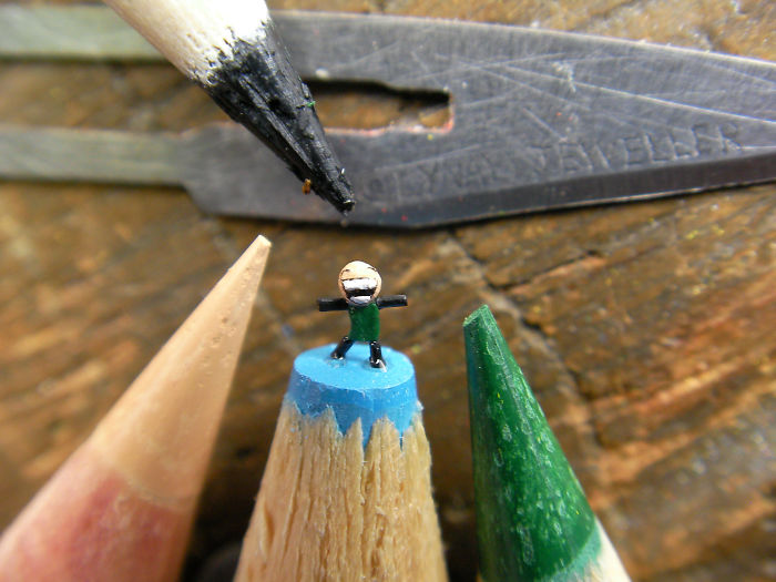 I Carve Little Sculptures Into The Tips Of Pencils