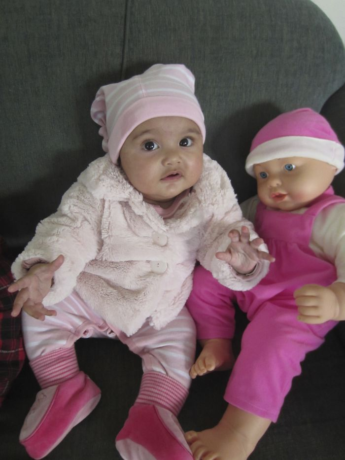 Baby Faith And Her Baby Doll