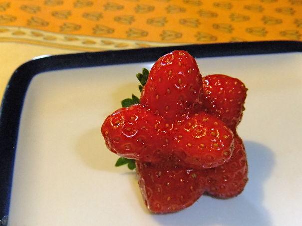 A Special Pantagonal 5-star Strawberry, A Symbol Of Quality !