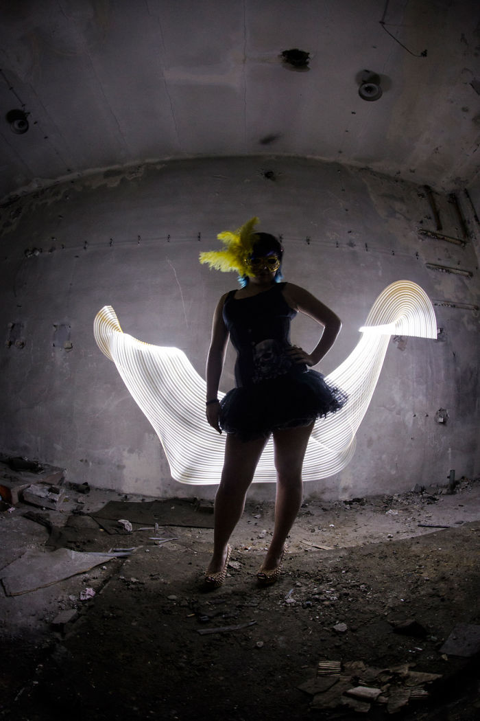 Lightpainting Girls Portraits