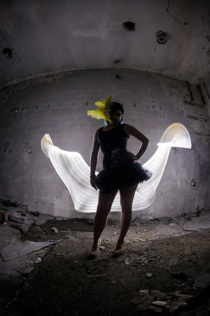 Lightpainting Girls Portraits