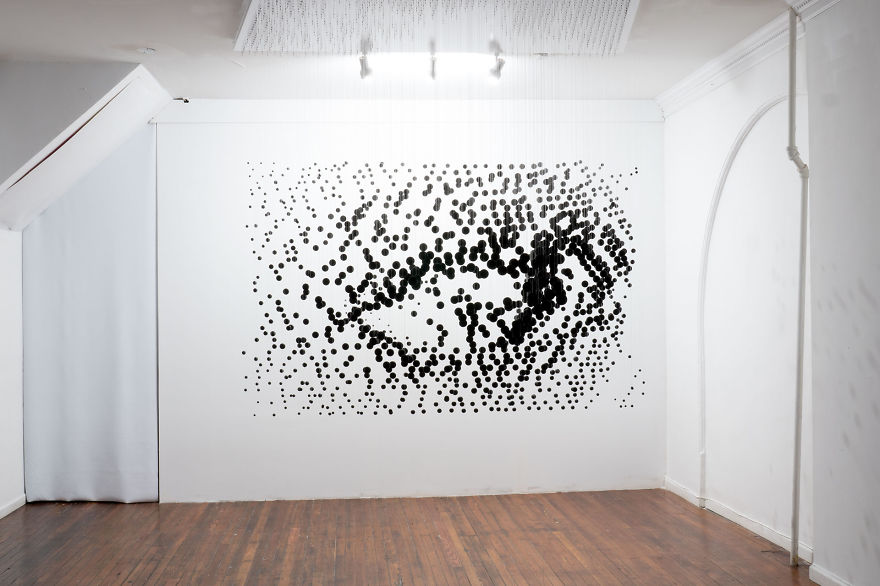 1 252 Floating Balls Form An Eye When Looking From The