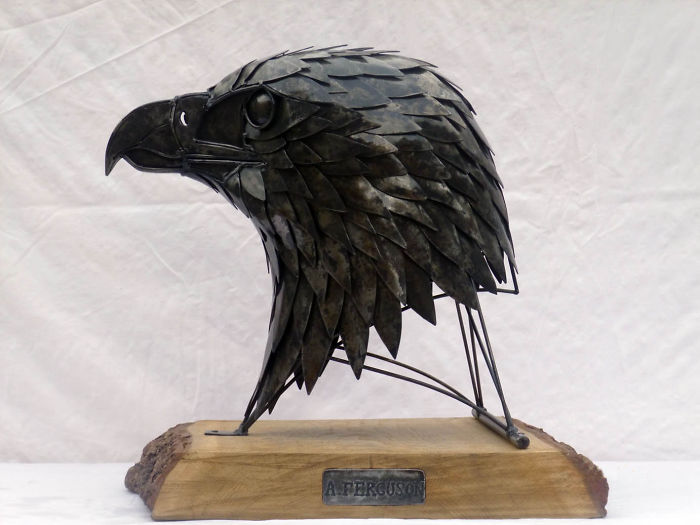 My Golden Eagle Sculpture Made Of Steel