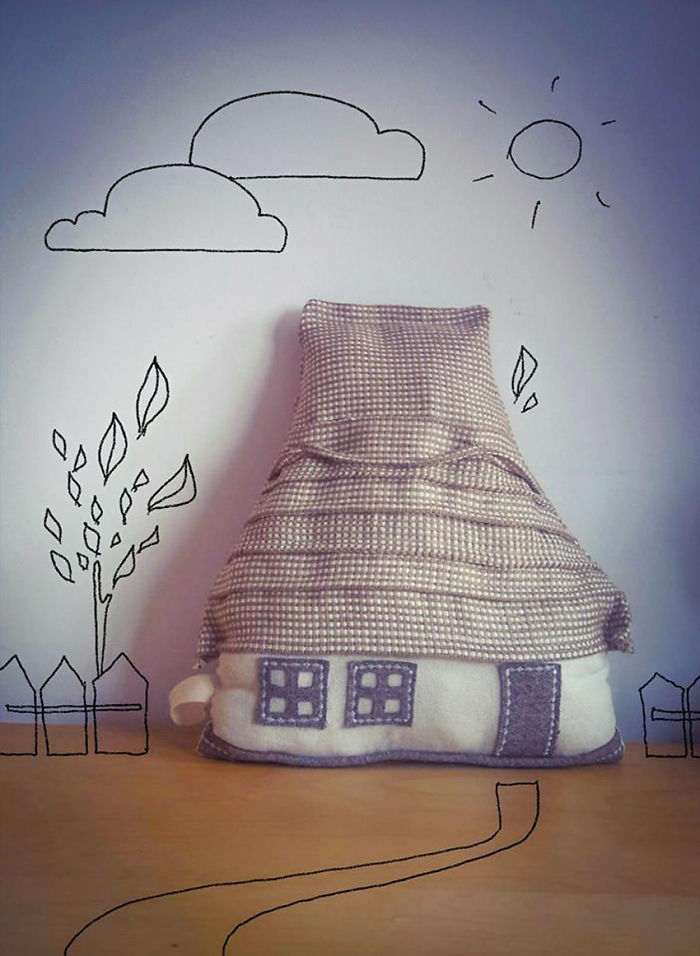 Inspired By My Childhood Memories In Romania, I Create Architectural Pillows