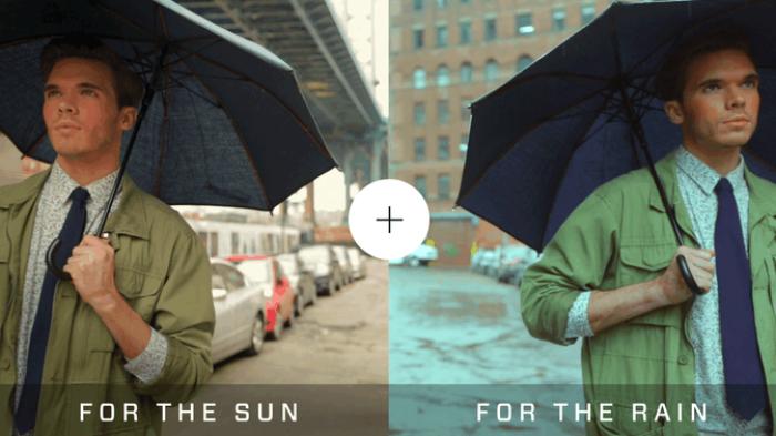 Umbrella Uses Tech-forward Fabric To Repel Rain & Sun