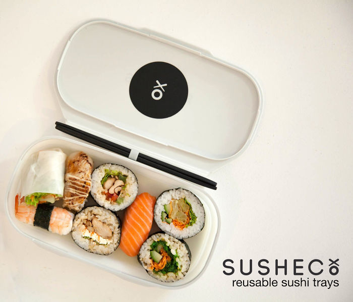 Susheco – The Flat-pack Reusable Sushi Tray Designed To Improve The Sushi Eating Experience