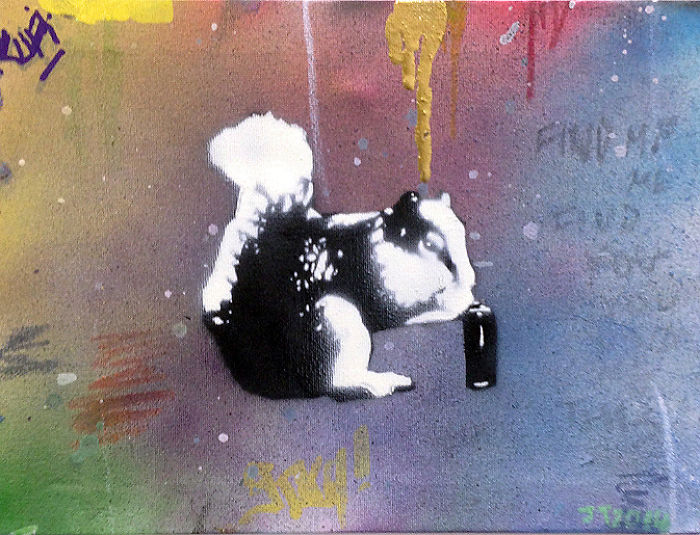 Playful And Serious Stencil Paintings Of Animals By Johannesburg Artist, Joe Turpin.