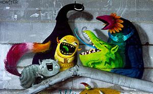 Monzter: Artist Hides Monster Murals Inside Abandoned Buildings In Berlin
