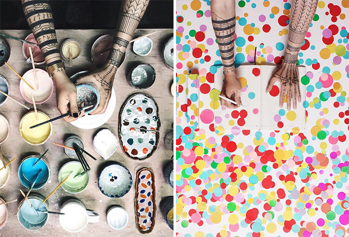 Creative Portraits Of Artist's Hands Exploring Different Art Forms