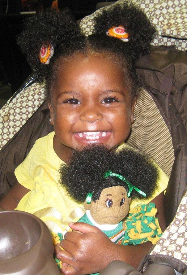 Girl And Look Alike Doll