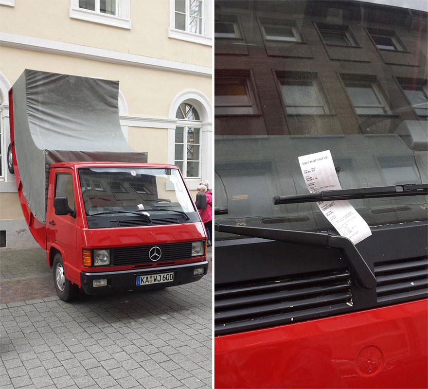 bent-truck-parking-ticket-germany-Erwin-Wurm-6
