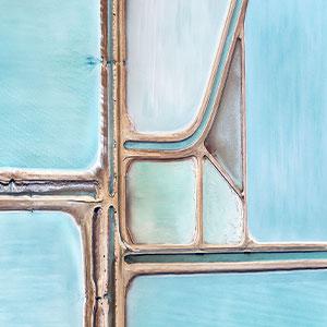 Blue Salt Fields In Australia Look Like Paintings From Above