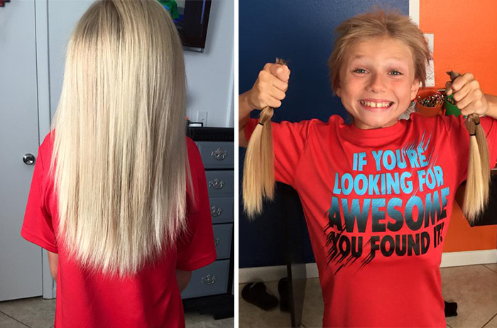 This 8-Year-Old Was Bullied For 2 Years While Growing His Hair Long To Make Wigs For Kids With Cancer