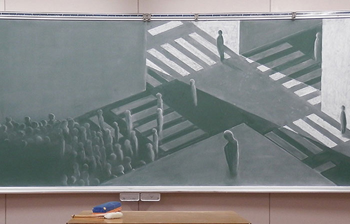 Japanese Students Draw Stunning Chalkboard Art For Blackboard Drawing Contest