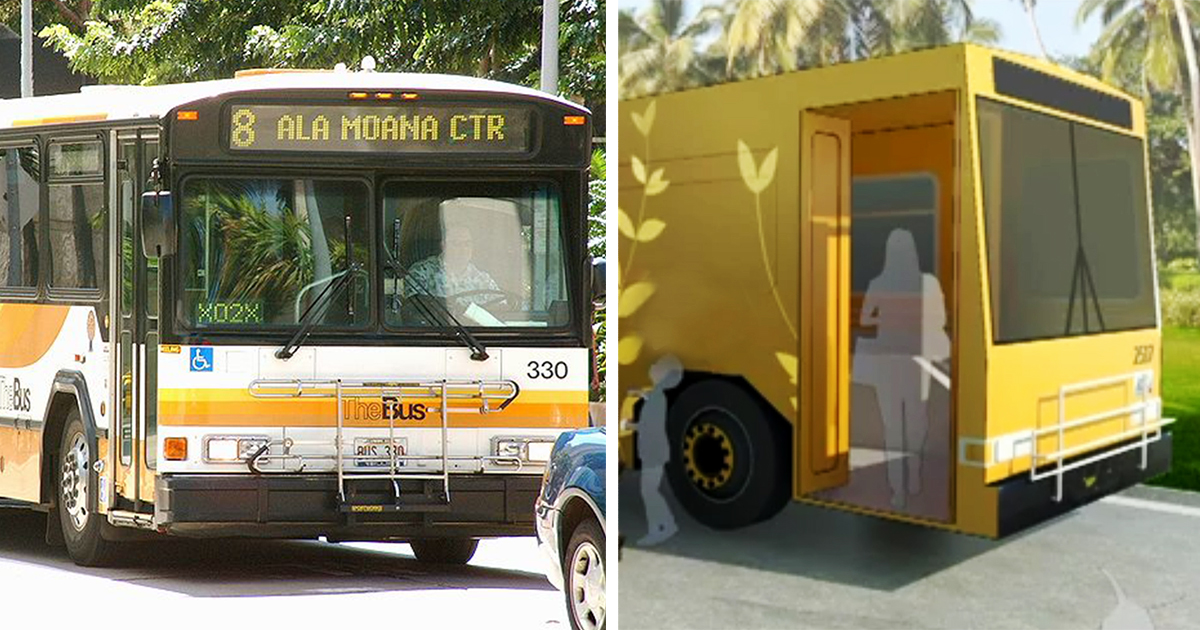 Hawaii Will Turn Old City Buses Into Mobile Homeless Shelters With Showers