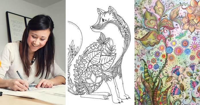 Artist Creates Adult Coloring Books And Sells More Than A ...
