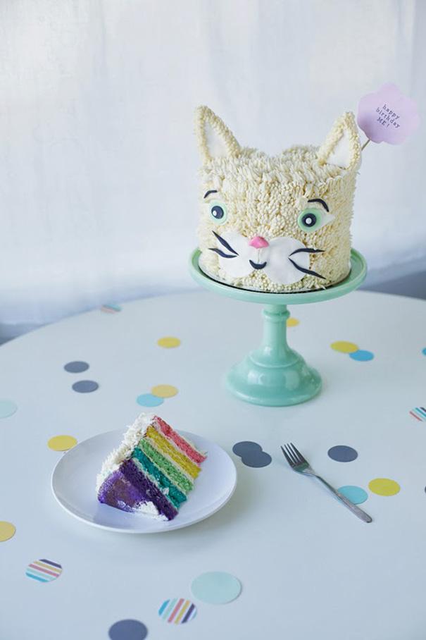 Rainbow Cat Birthday Cake