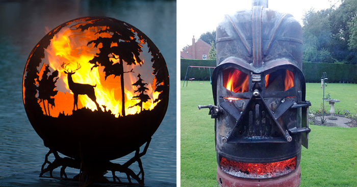 12+ Beautiful Metal Firepits That Are Works Of Art - 12+ Beautiful Metal Firepits That Are Works Of Art Bored Panda