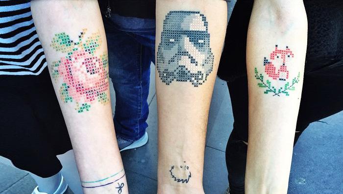 Cross-Stitch Tattoos By Turkish Artist Eva Krbdk