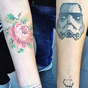 Cross-Stitch Tattoos By Turkish Artist Eva Krbdk