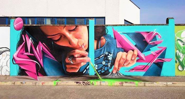 Смотреть граффити: Caiffa Cosimo, Милан