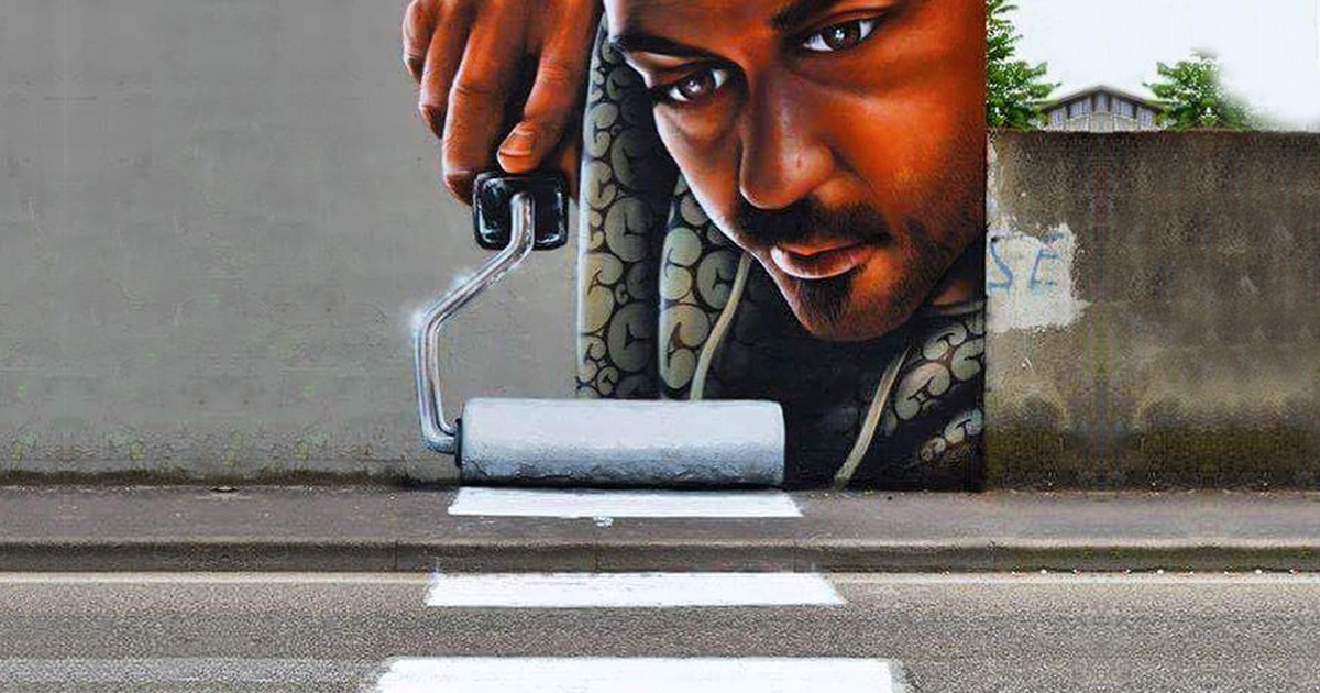 Interactive Street Art In Italy By Caiffa Cosimo