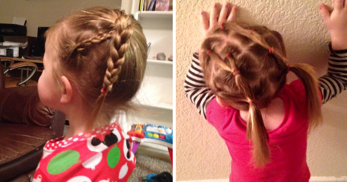 Single Dad Couldn\u0027t Do His Daughter\u0027s Hair, So He Went To