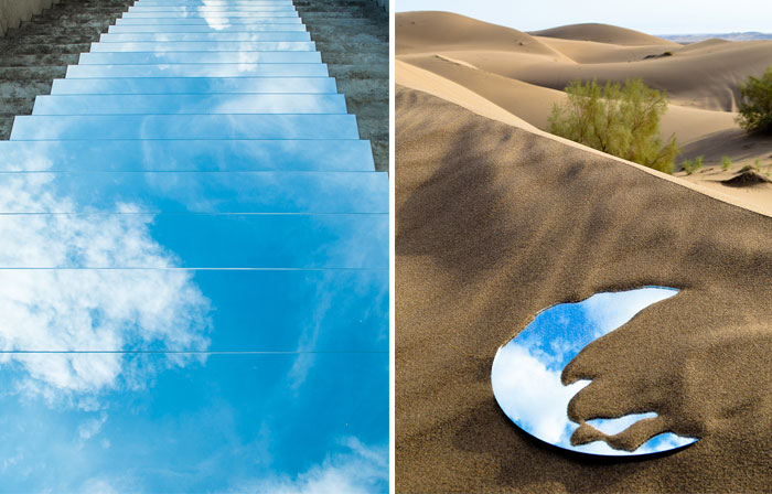 I Create Mirror Installations On Deserts And Pathways In Iran