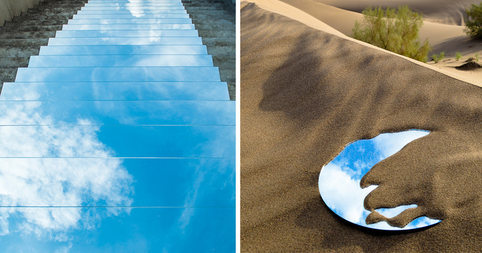 I Create Mirror Installations On Deserts And Pathways In