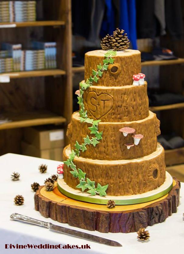 Tree Slice Wedding Cake