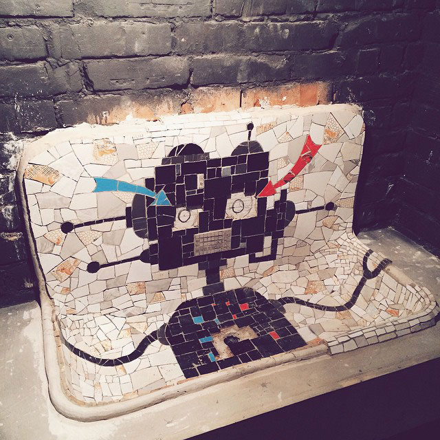 Robot Sink: My Newest Mosaic For A Bar In Russia
