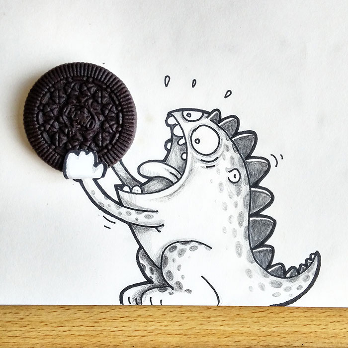Drogo Loves Oreo. But It's Too Big For Him