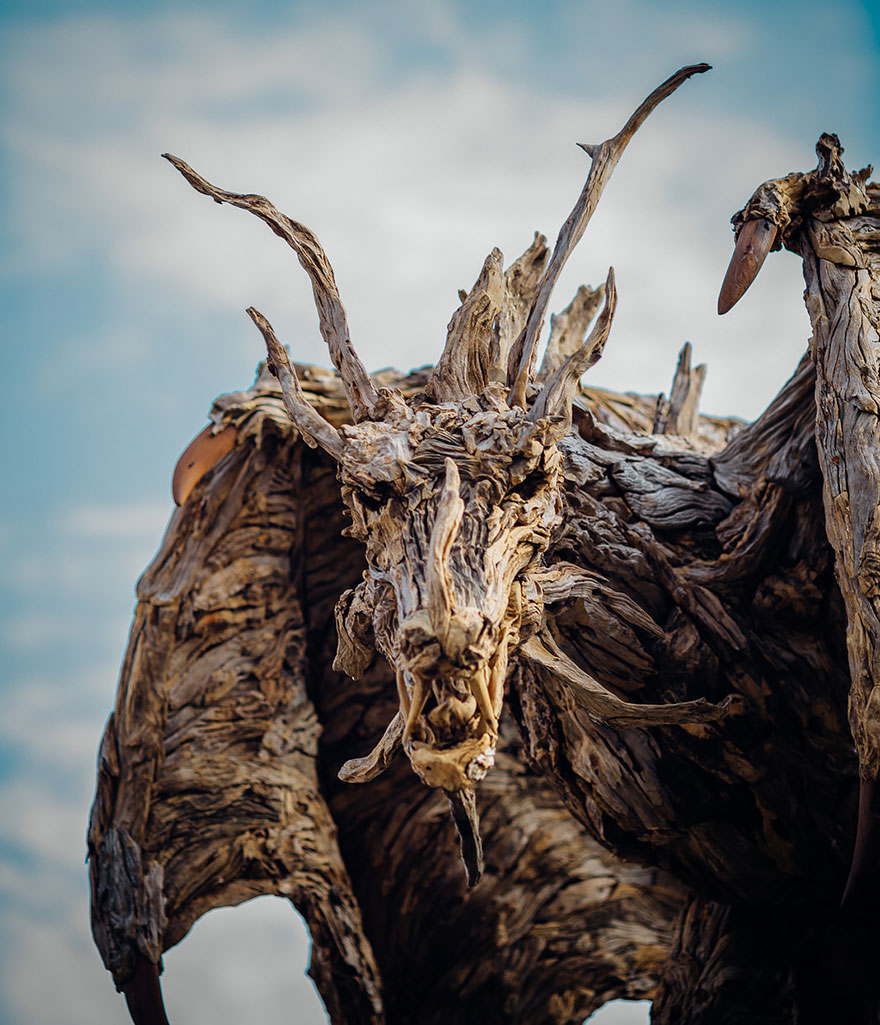Driftwood Dragons And Beast Sculptures By James Doran-Webb